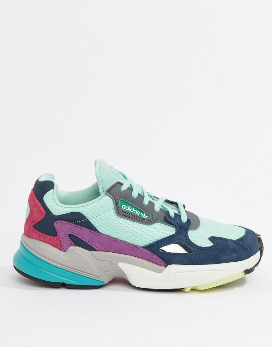 bcd746ab0d8 Lyst - adidas Originals Falcon Trainer In Mint Multi in Green
