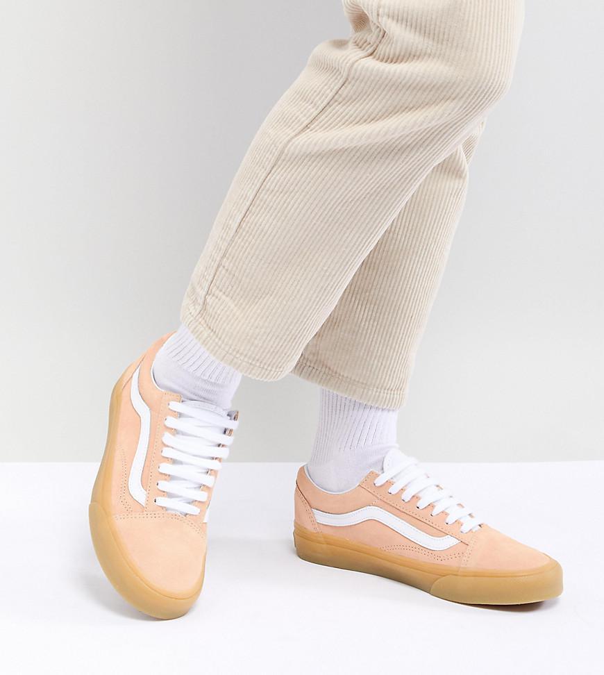 Old Skool Pastel Orange Trainers With Gum Sole - Pastel orange Vans 5baerjTze5