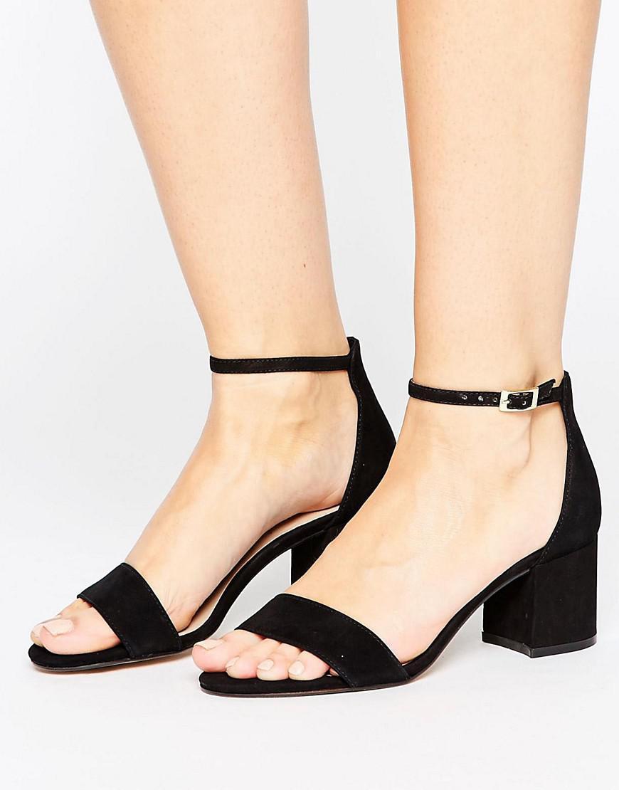 8c951b86231 Lyst - ALDO Villarosa Leather Block Heel Sandals in Black