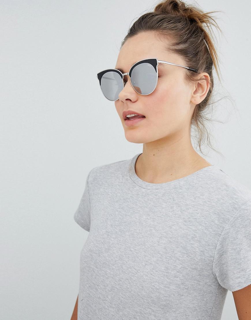 239e2a6cf1 Quay Mia Bella Round Sunglasses in Metallic - Lyst