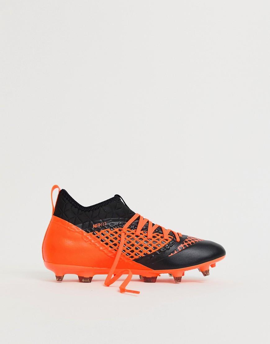 21b7c83b55f7 Lyst - Puma Soccer Future 2.3 Netfit Firm Ground Boots In Orange 104832-02  in Black for Men
