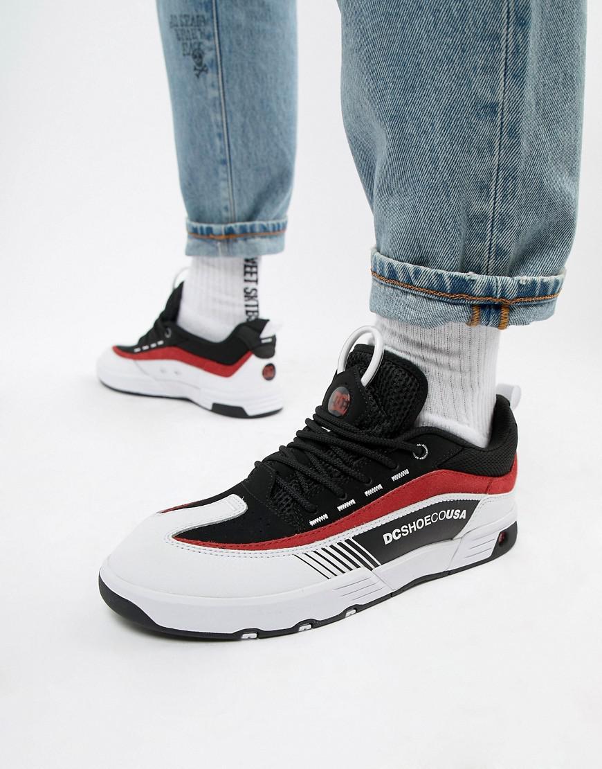 b1c01ed3ec DC Shoes Legacy 98 Slim Trainer In Black   Red in Black for Men - Lyst