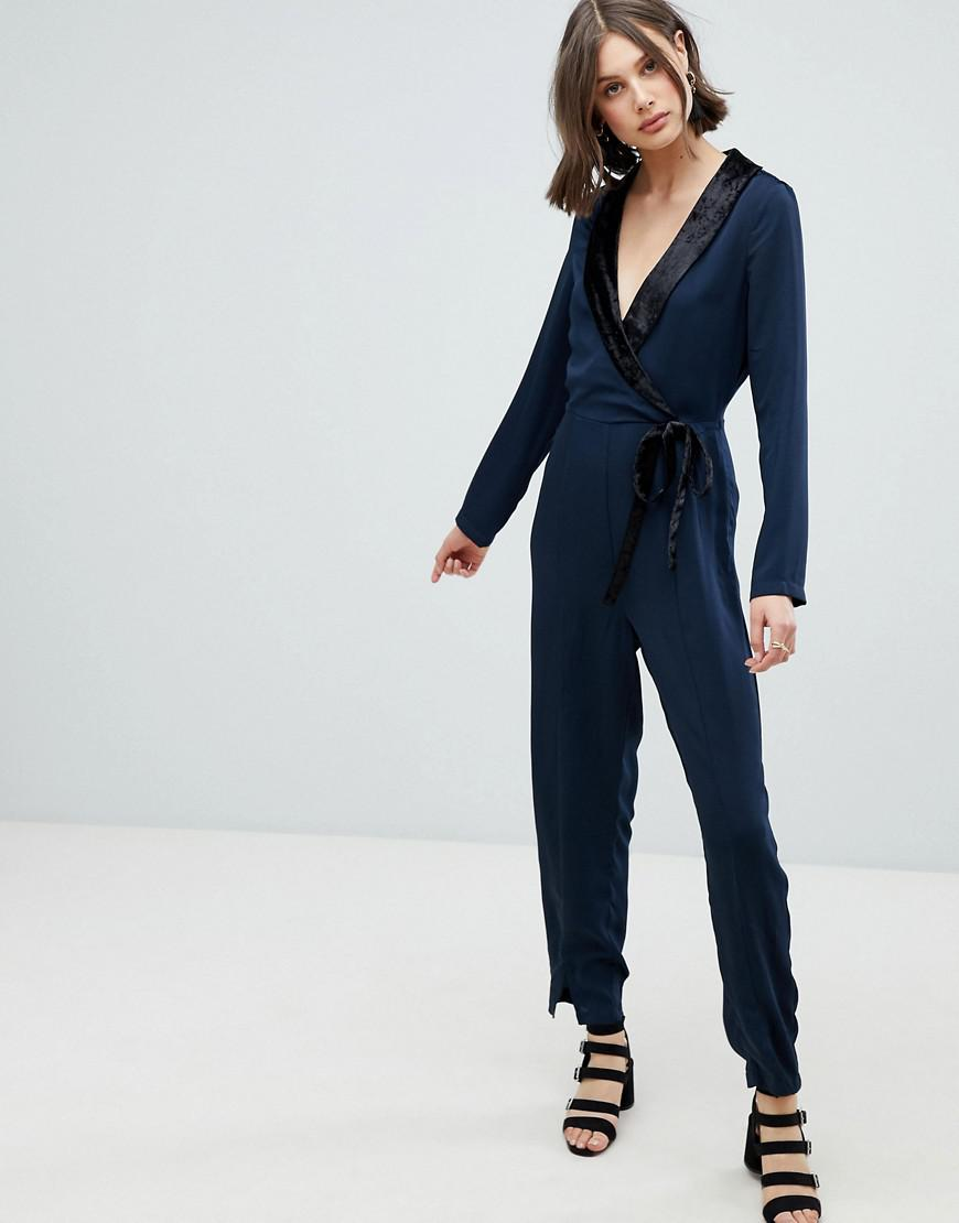 5224ea39127 Vero Moda Tux Jumpsuit in Blue - Lyst