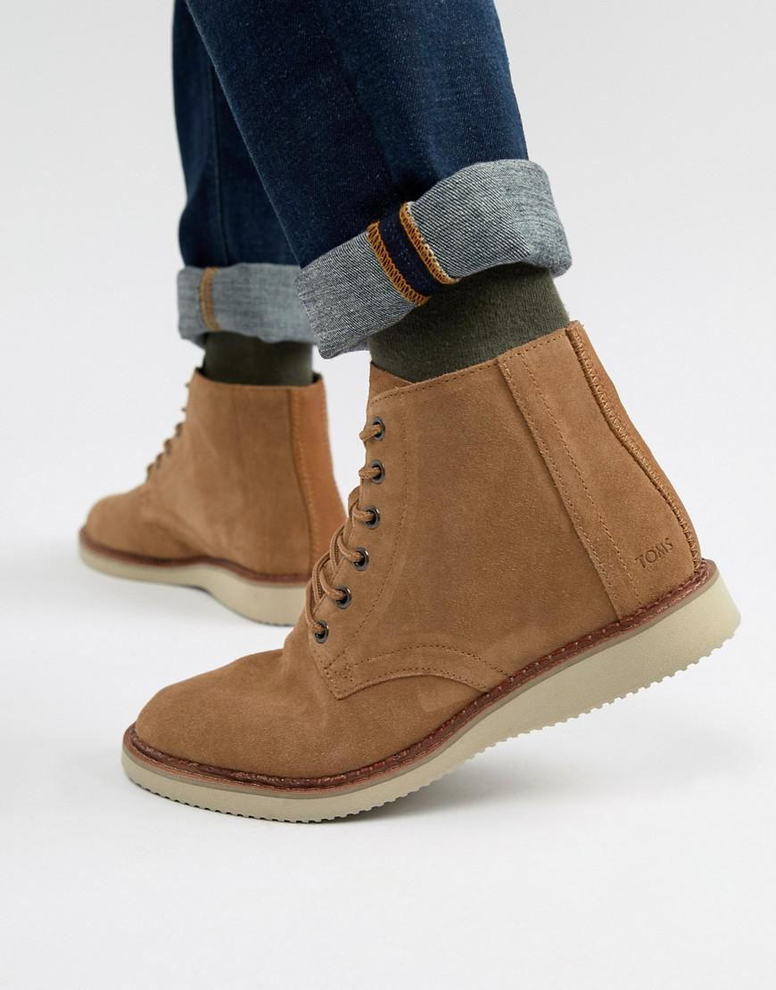 fd918a87111c TOMS Porter Water Resistant Lace Up Boots In Brown in Brown for Men ...