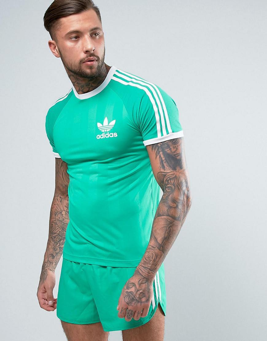 detailed look b4641 ec559 Lyst - adidas Originals Retro California T-shirt In Green Cf5308 in ...