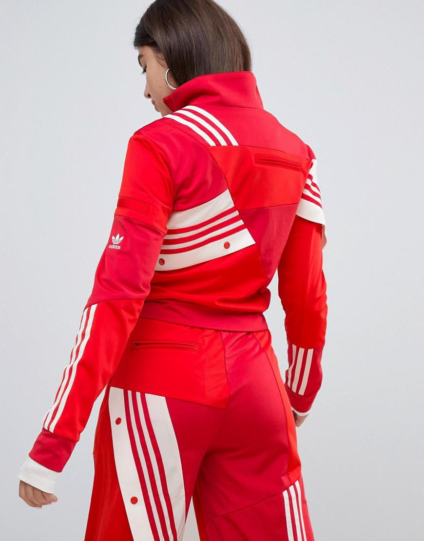 3bd9dccb0e2 adidas Originals X Danielle Cathari Deconstructed Track Top In Red ...