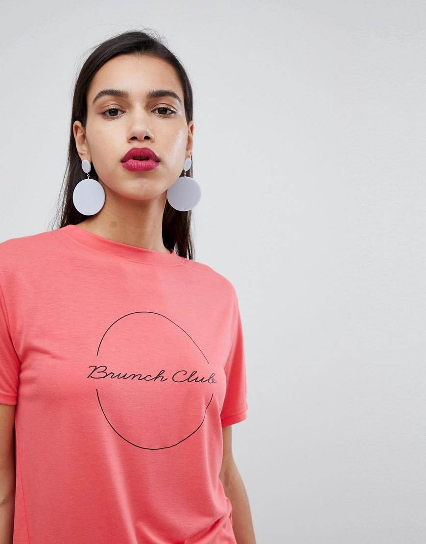077c4857d9cc0 Lyst - Whistles Exclusive Brunch Club Logo T-shirt in Pink