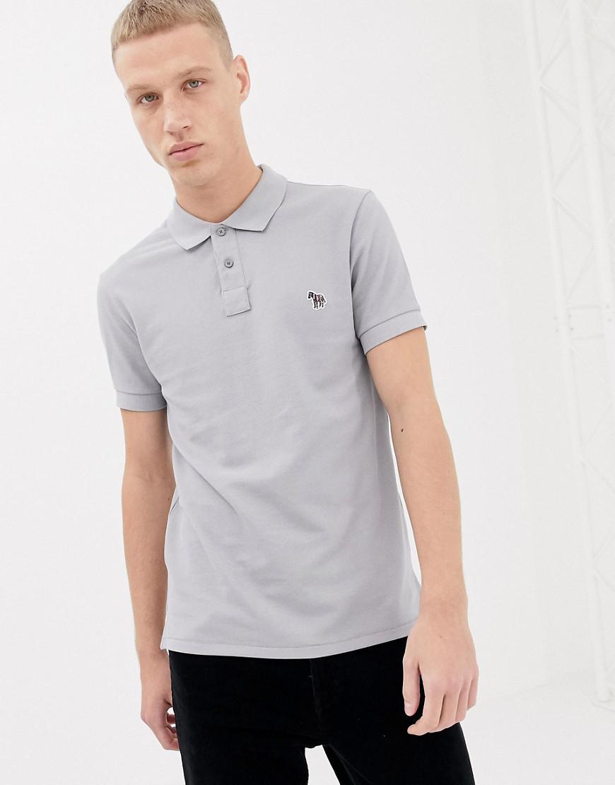 edf305071 PS by Paul Smith Slim Fit Zebra Logo Polo In Grey in Gray for Men - Lyst