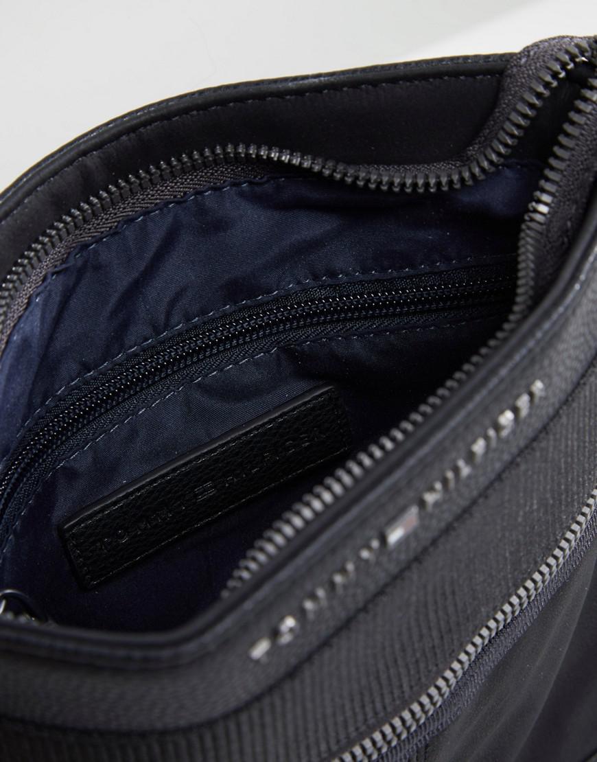 09db4fb899 Tommy Hilfiger Faux Leather Flight Bag In Black in Black for Men - Lyst