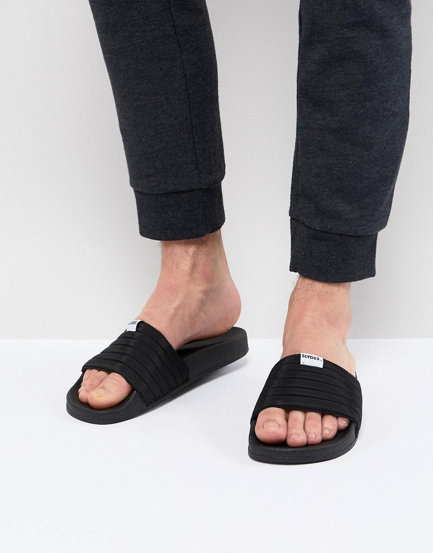 Roamer Logo Strap Sliders In Black - Black Supa Slydes Pdz1gw