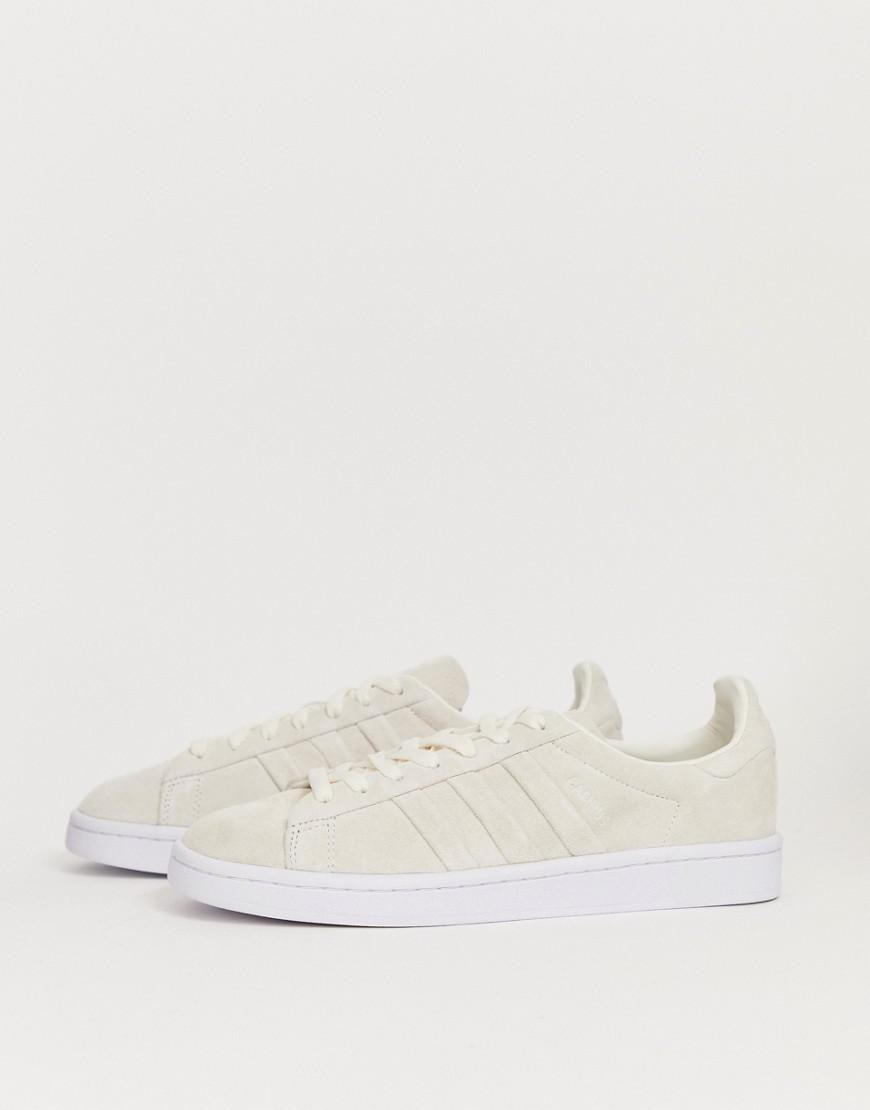 cheap for discount 1043f 88525 adidas Originals Campus Stitch And Turn Unisex Trainers in White for Men -  Lyst
