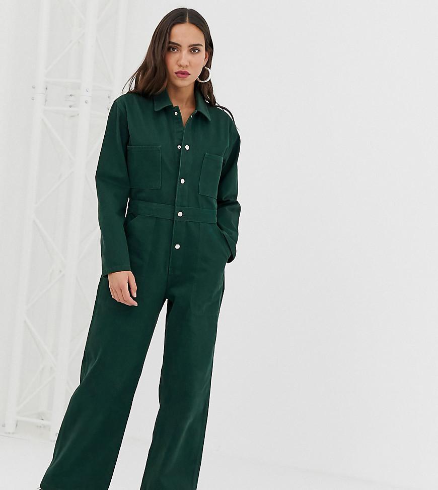 9b9709582c93 Lyst - Reclaimed (vintage) Inspired Denim Boiler Jumpsuit in Green