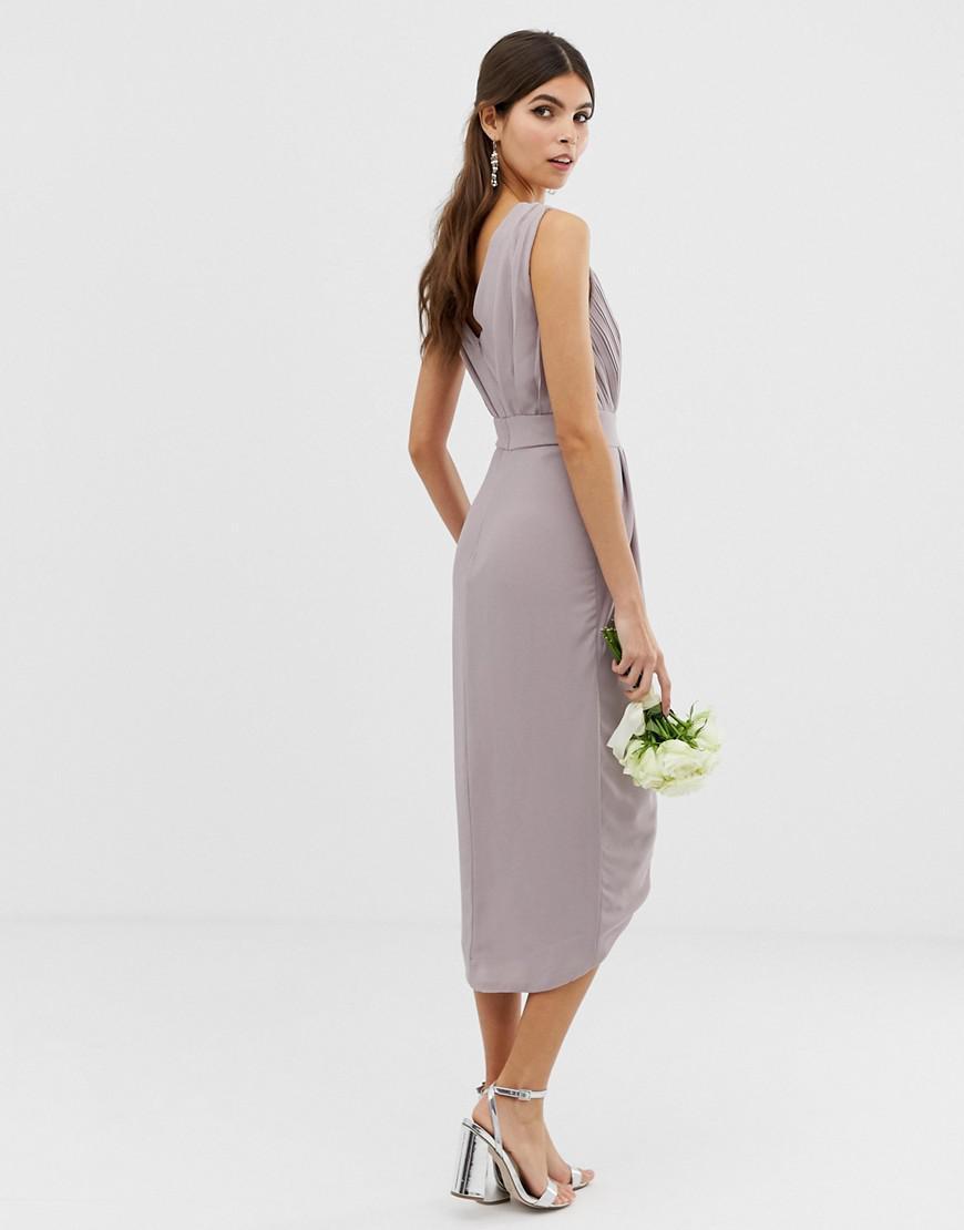 0c6b66c0c41 Tfnc Wedding Wrap Midi Dress With Embellishment - Data Dynamic AG