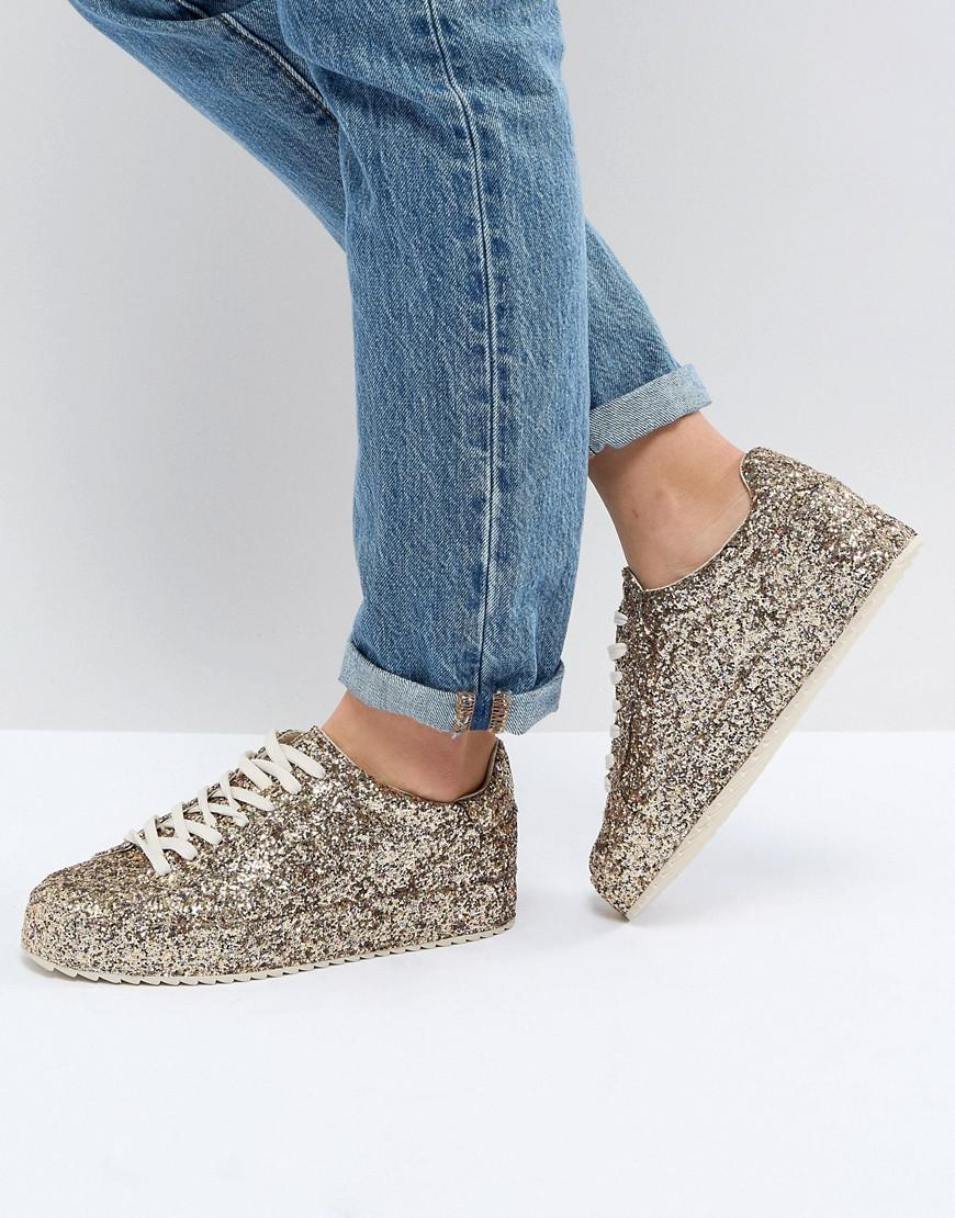 low price fee shipping online free shipping newest Stradivarius Glitter Trainers clearance best free shipping in China discount collections dK2L47bcs