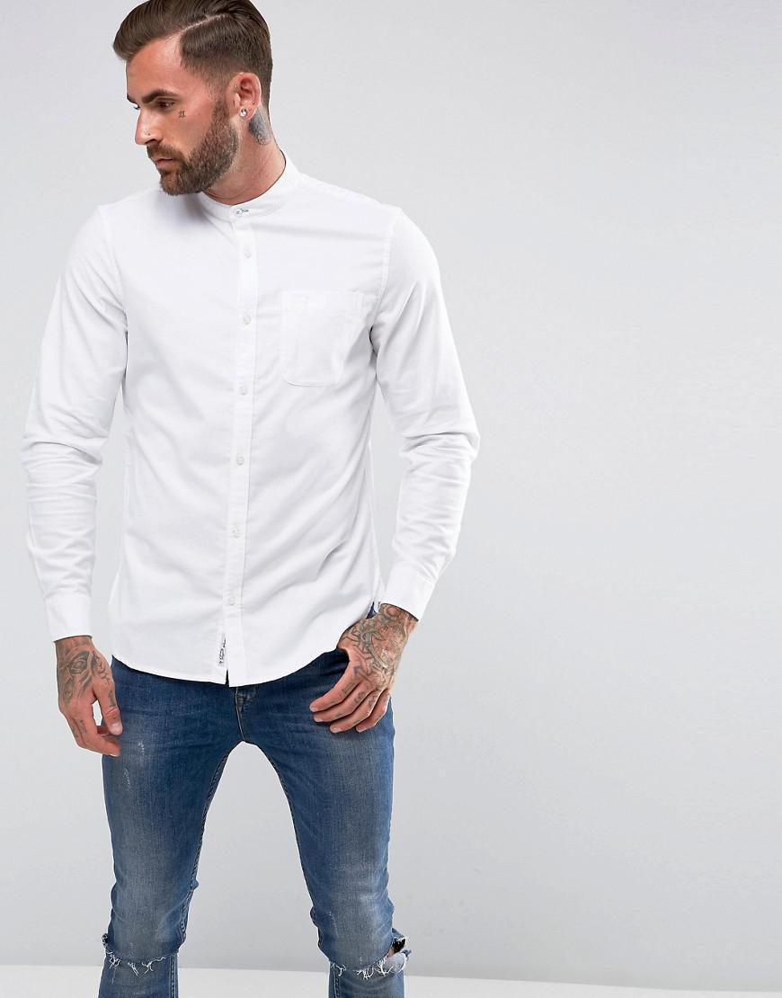 Lyst Original Penguin Collarless Heritage Slim Fit Shirt Oxford