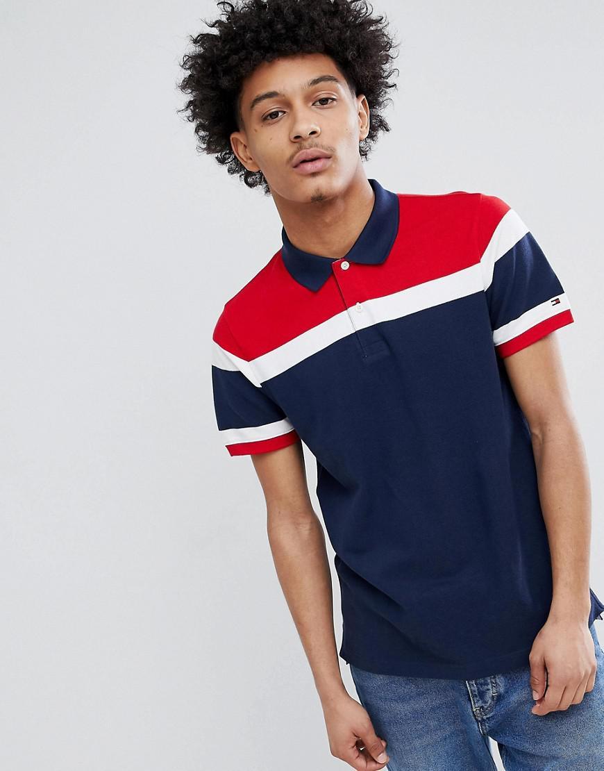 f1df3b4a Tommy Hilfiger Chest Stripe Slim Fit Polo Shirt