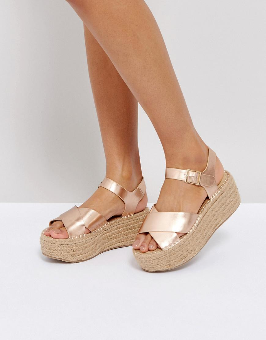 983332bb6862 Boohoo Espadrille Platform Sandal in Pink - Lyst