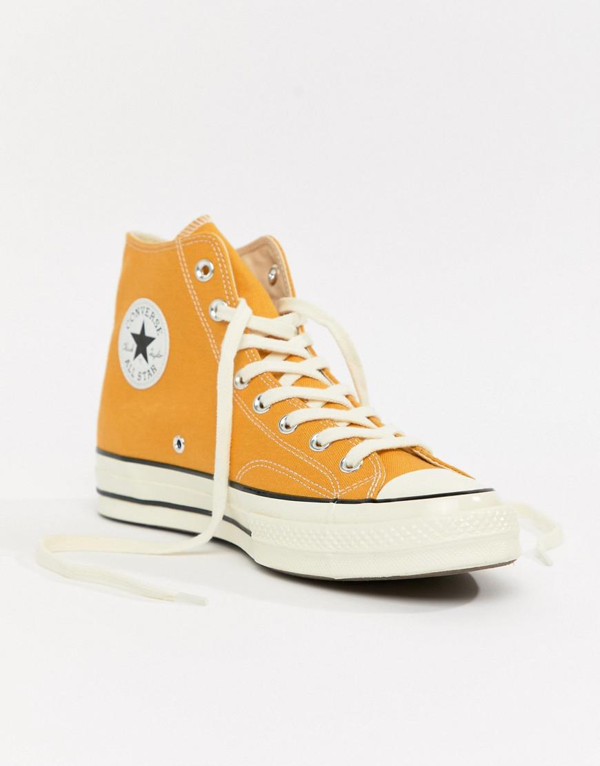 7f496fc5fcf633 Lyst - Converse Chuck Taylor All Star  70 Hi Trainers In Yellow 162054c in  Yellow for Men
