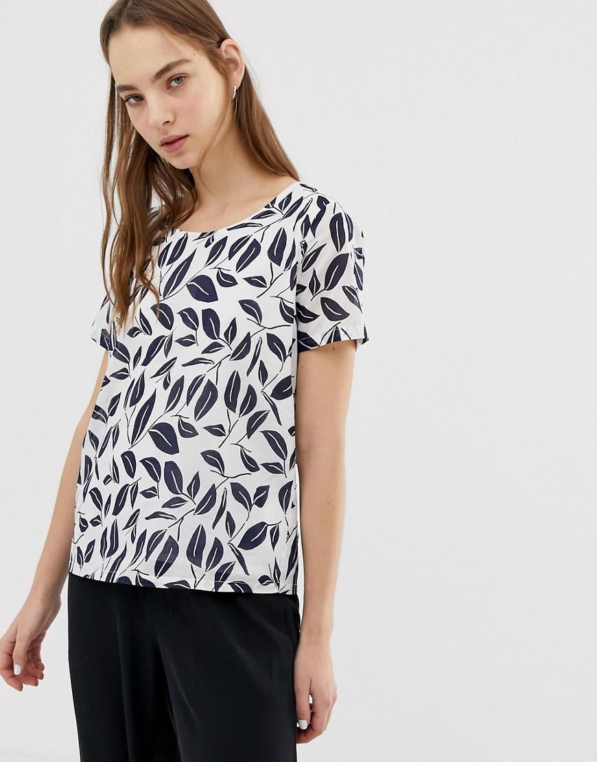 9c9b25383e9e Minimum - White Printed T-shirt - Lyst. View fullscreen