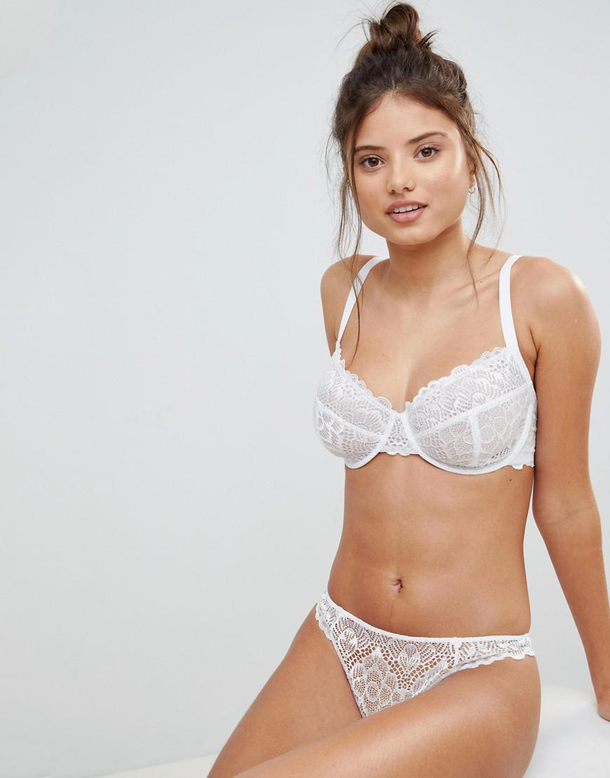 0bc049e05c0 ASOS Fuller Bust Rita Lace Mix   Match Underwire Bra in White - Lyst