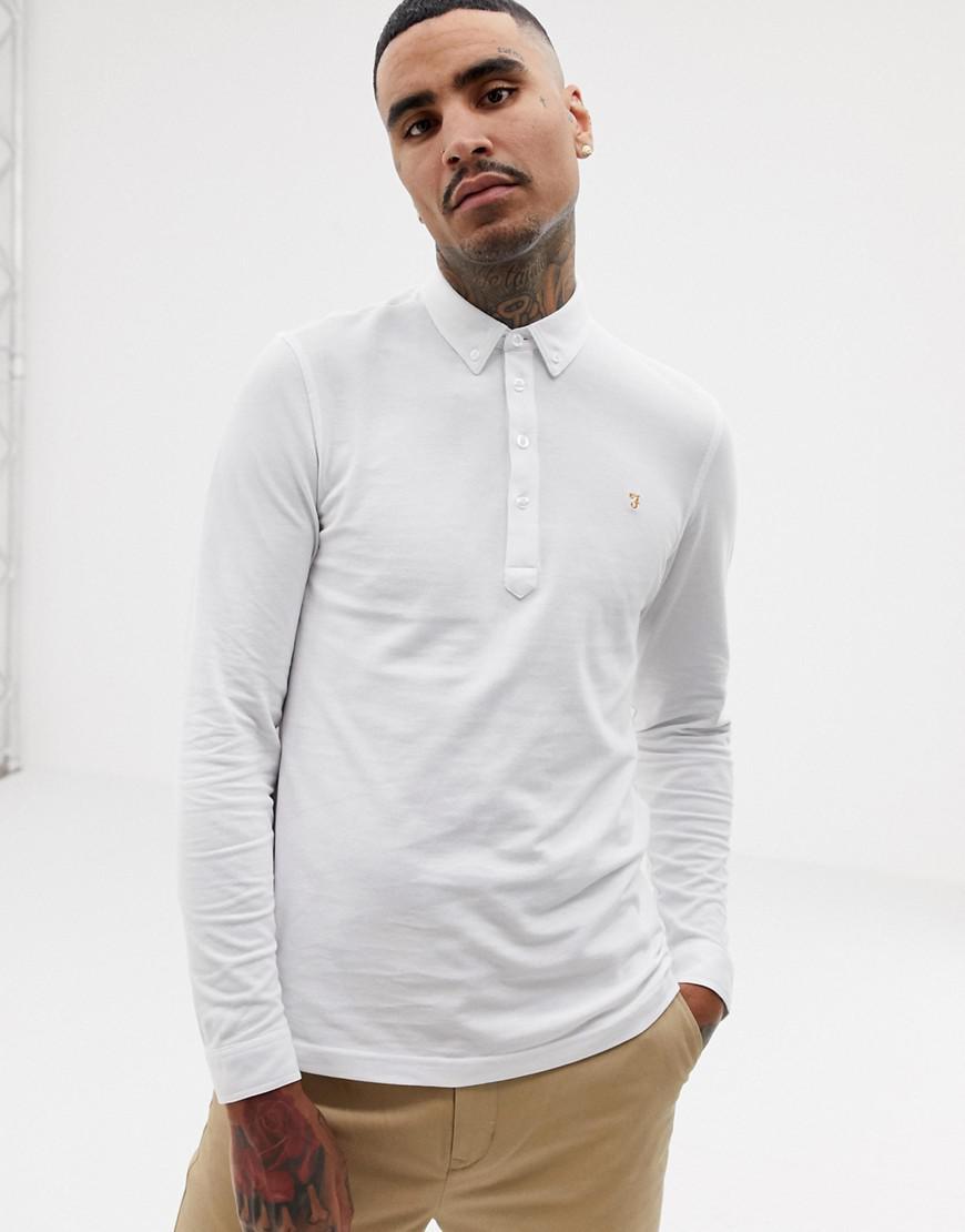 Slim En Polo Farah Blanc Merriweather Fit qwznRp8E