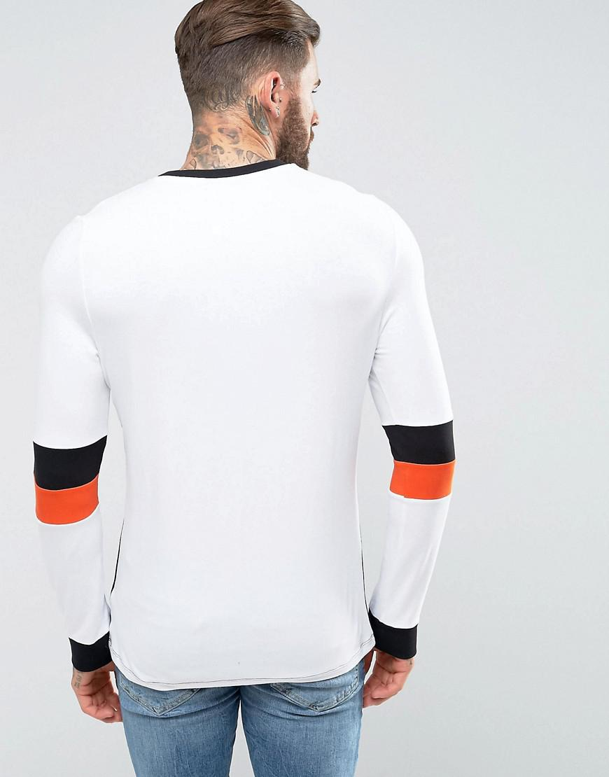 Muscle Long Sleeve T-Shirt With Sleeve Cut And Sew Detail - White Asos Cheap Outlet Visit New Cheap Price Purchase Cheap Discount Latest Y3YJD