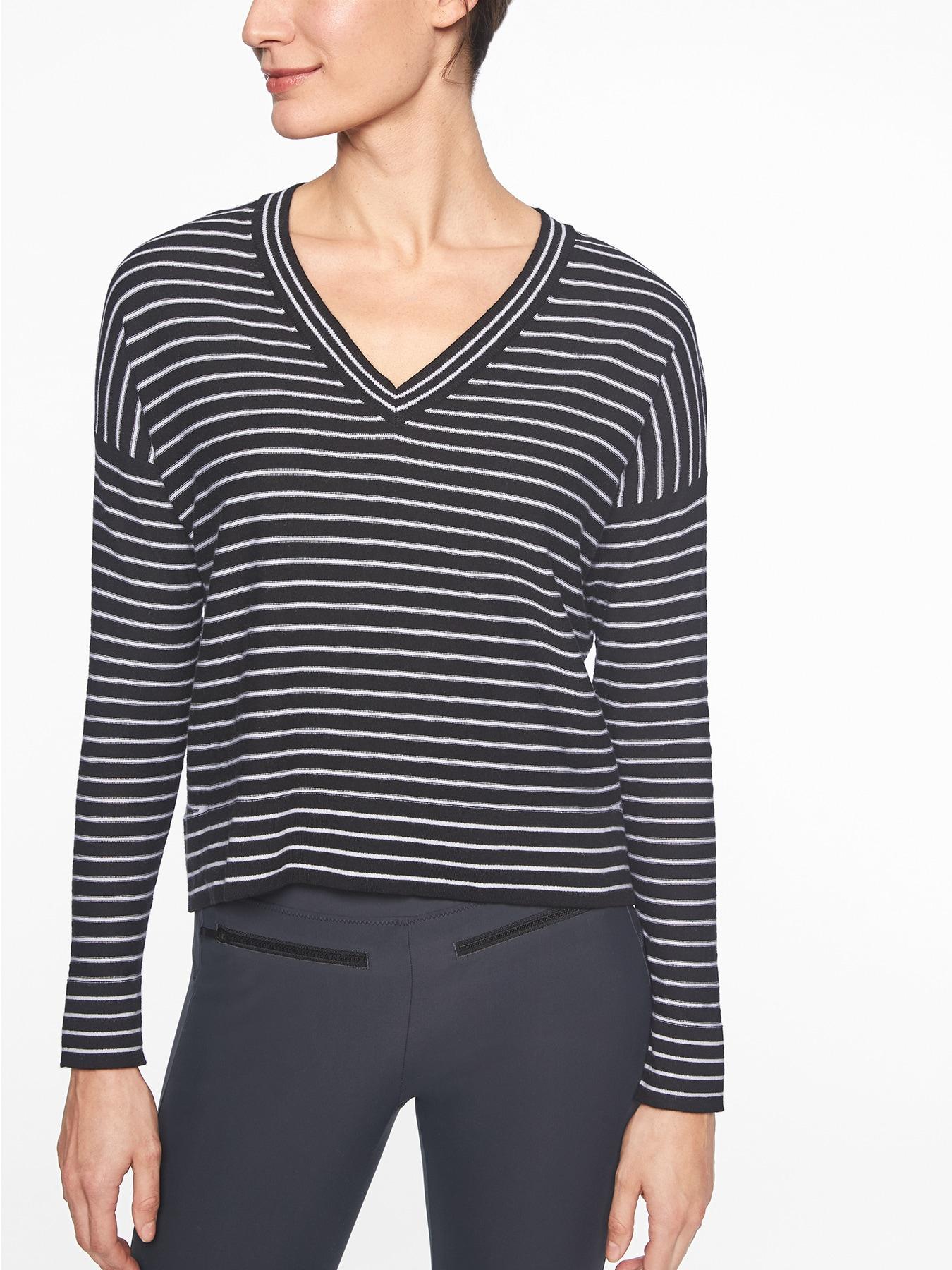 cb42a673ce7 Lyst - Athleta Retreat Sweater in Black