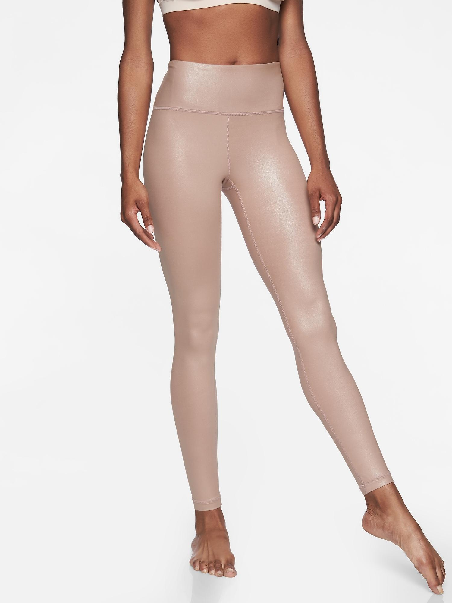 b489e3e4fad4 Lyst - Athleta Elation Shimmer Tight In Powervitatm in Natural