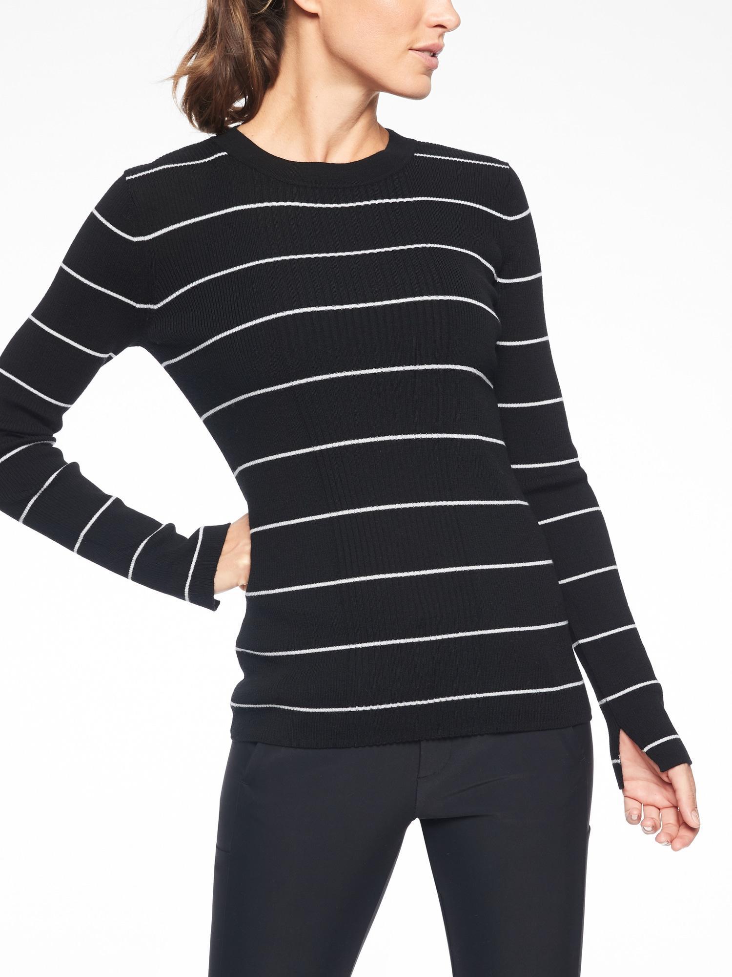 f43889e91b7dd Lyst - Athleta Bayside Sweater in Black