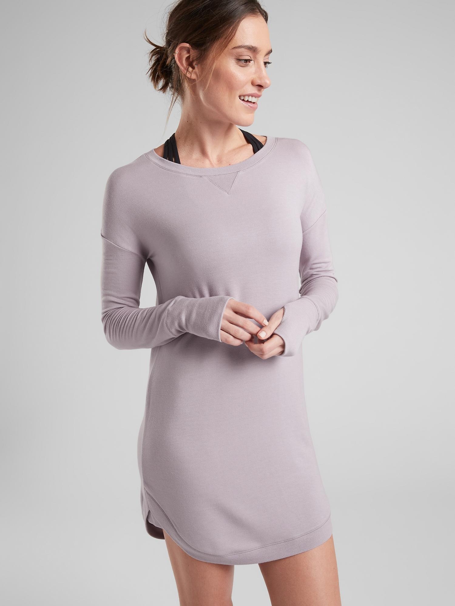 aae3d8602a1 Lyst - Athleta Recharge Sweatshirt Dress in Gray
