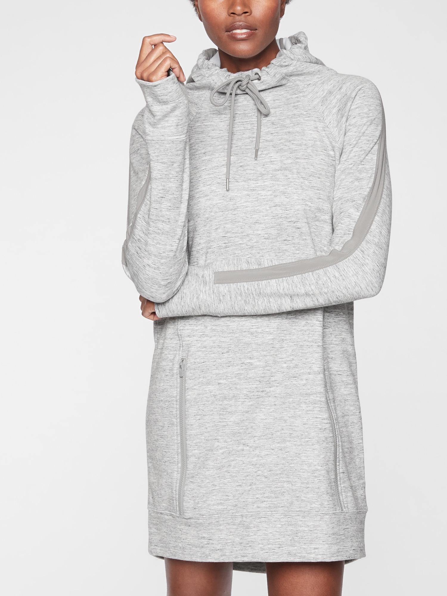 a22d9f1e6f6 Lyst - Athleta Victory Sweatshirt Dress in Gray