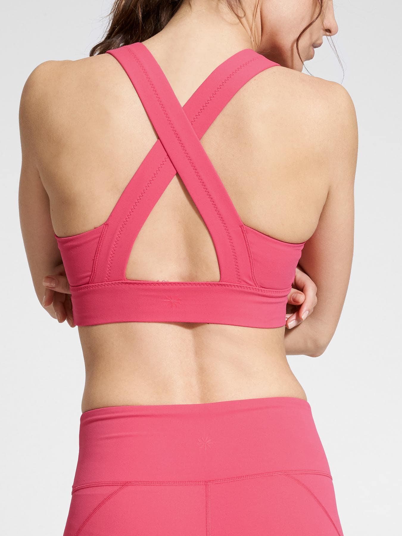 7e57a14fe4980 Lyst - Athleta Deep Breath Bralette in Pink