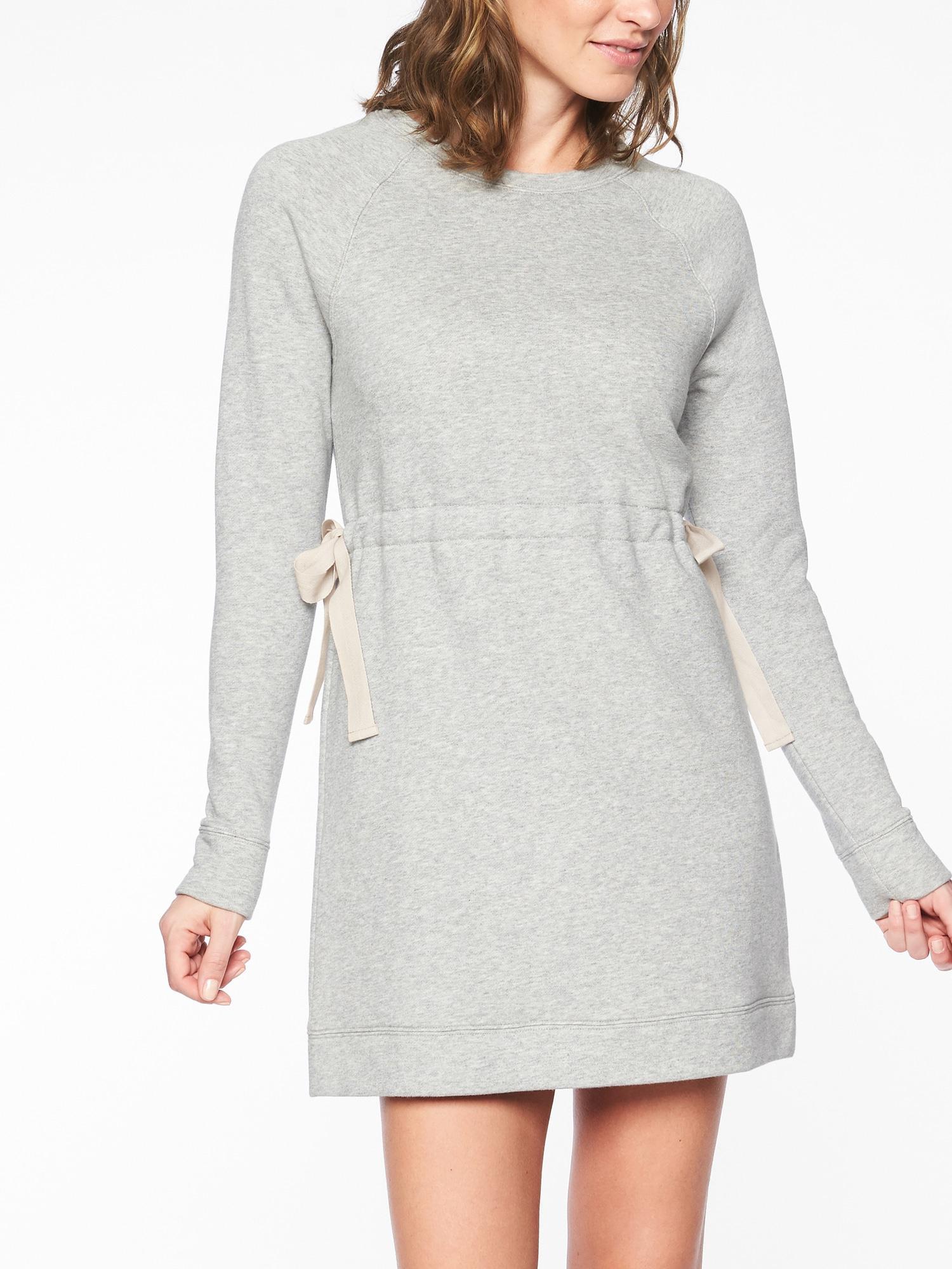 0790ff88795 Lyst - Athleta Studio Cinch Sweatshirt Dress in Gray