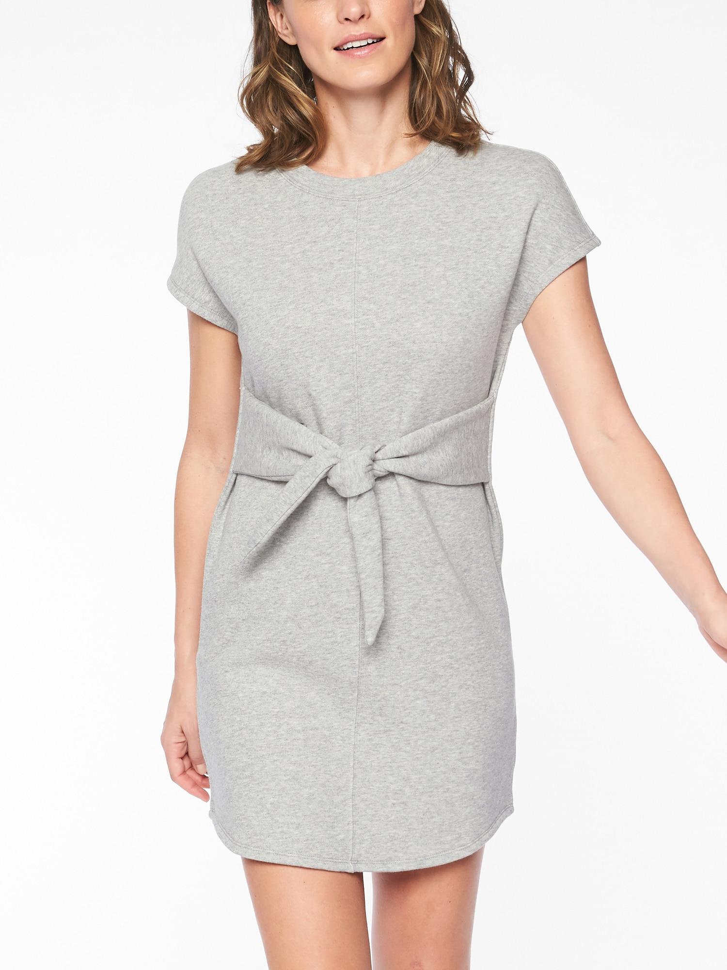 203ec39ee88 Lyst - Athleta Embrace Sweatshirt Dress in Gray