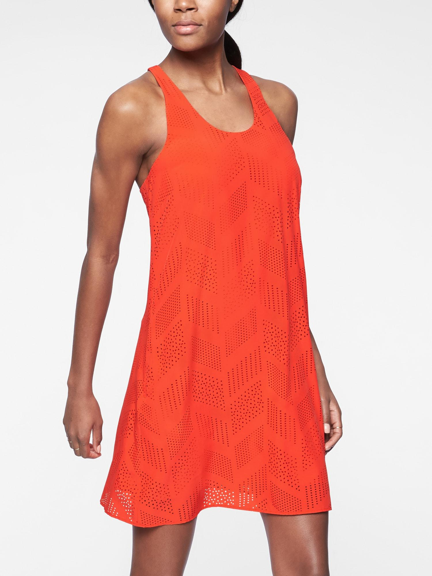 f0d71b3f69d76 Lyst - Athleta Brookfield Dress in Red