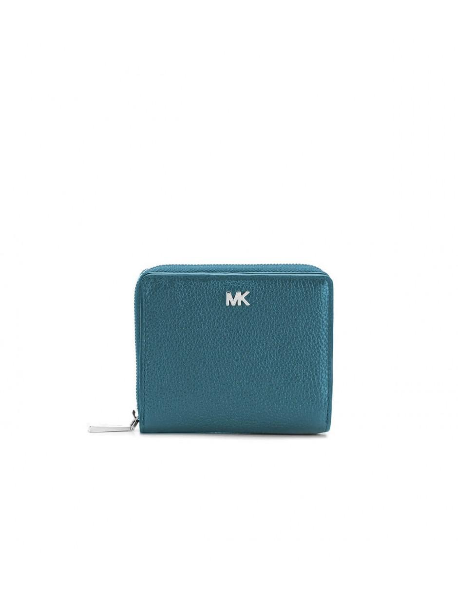 39f92323d3fb Lyst - MICHAEL Michael Kors Michael Kors Luxe Teal Logo Zipped Snap ...