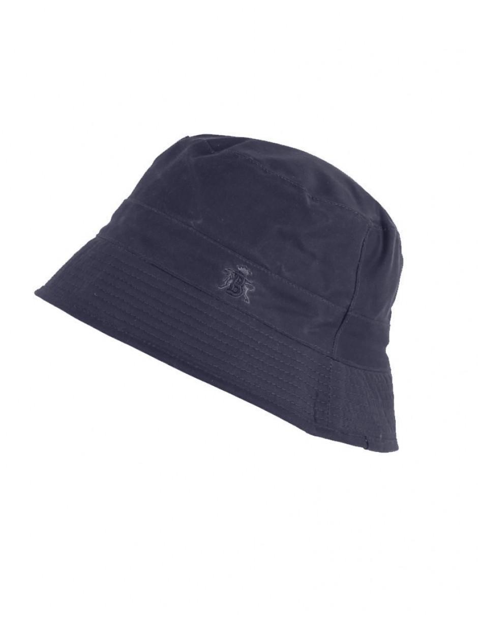 aa1c0d12d75cb Lyst - Baracuta Men s Made In England Oilskin Wax Bucket Hat in Blue ...