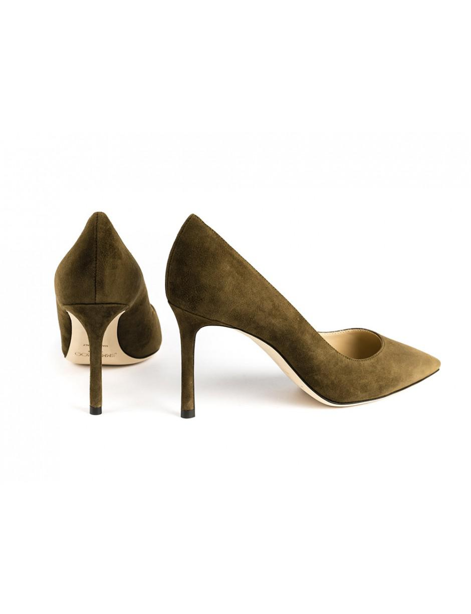 34267a8a549 Jimmy Choo Romy 85 Olive Suede in Green - Lyst