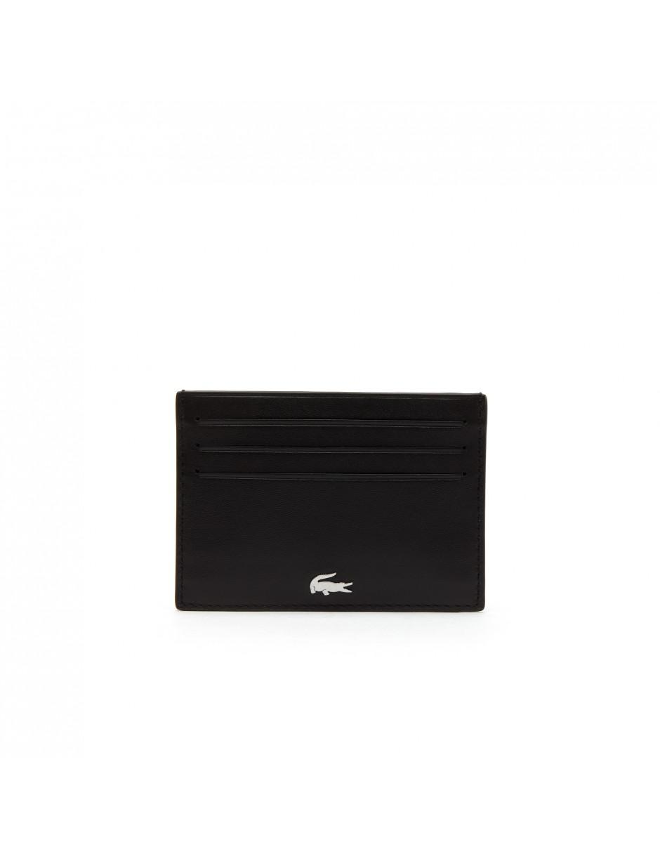 cd0d82a371db04 Lacoste Fitzgerald Leather Wallet And Key Chain Set in Black for Men ...