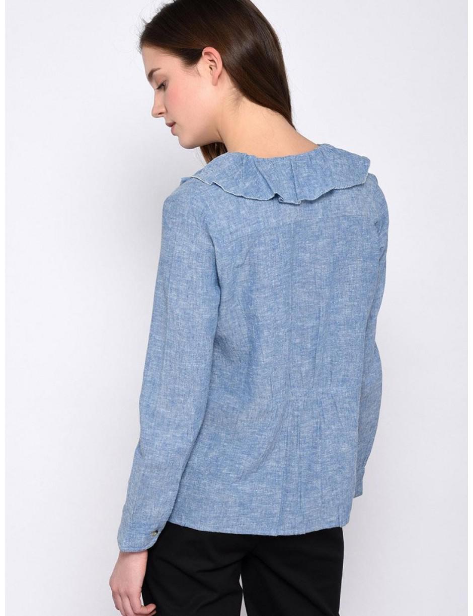 b7455e7cc1b47 Leon   Harper Chloe Denim Shirt in Blue - Lyst