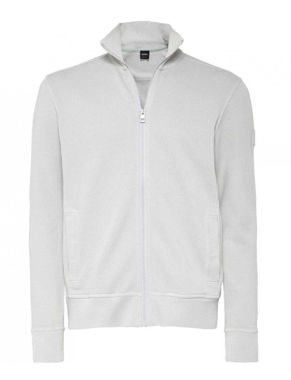 666ec692 BOSS Orange Zip-through Zelda Sweatshirt in White for Men - Lyst