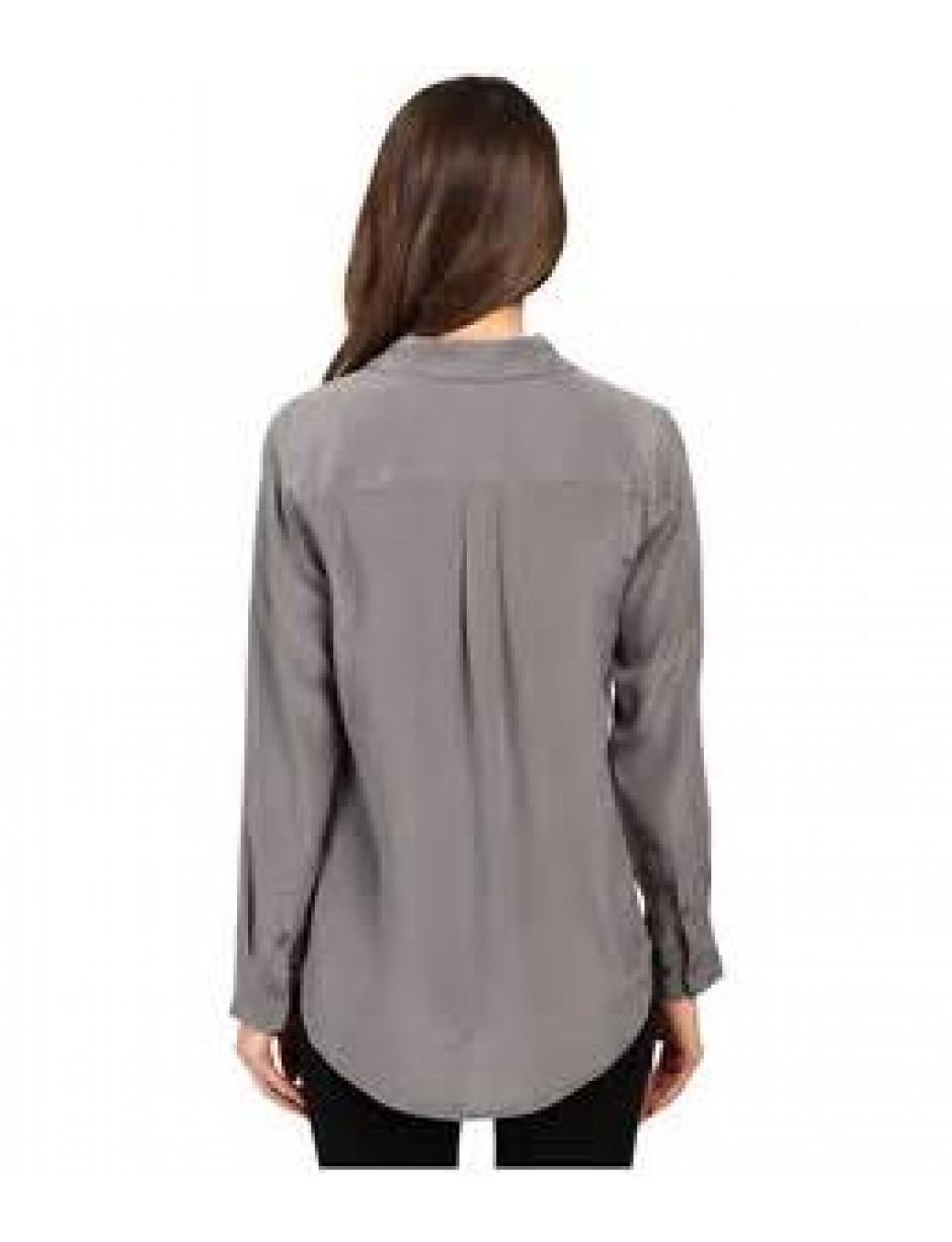 1f86fa90338e01 Lyst - Equipment Slim Signature Silk Shirt in Gray - Save 38%