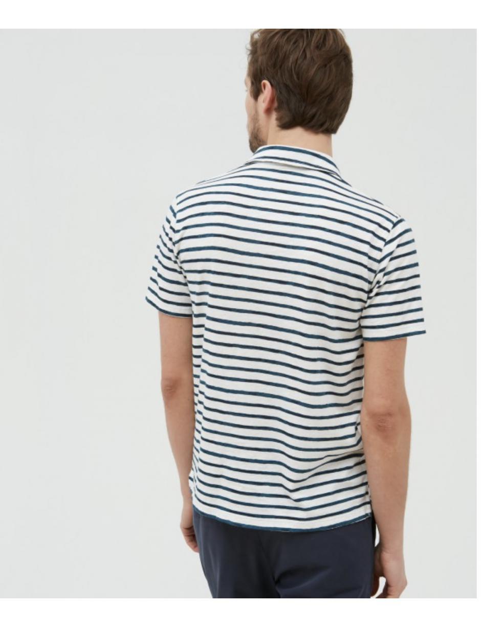 f7b488b24 Lyst - Hartford Polo Shirt In Raw   Navy Stripes in White for Men