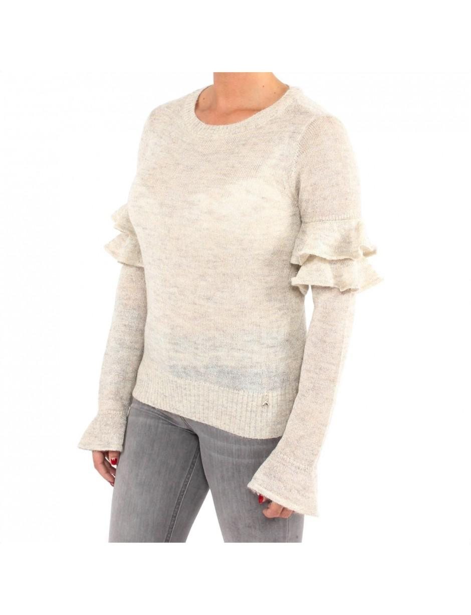 aab62f64019649 Lyst - Patrizia Pepe Jumper In Cream in Natural