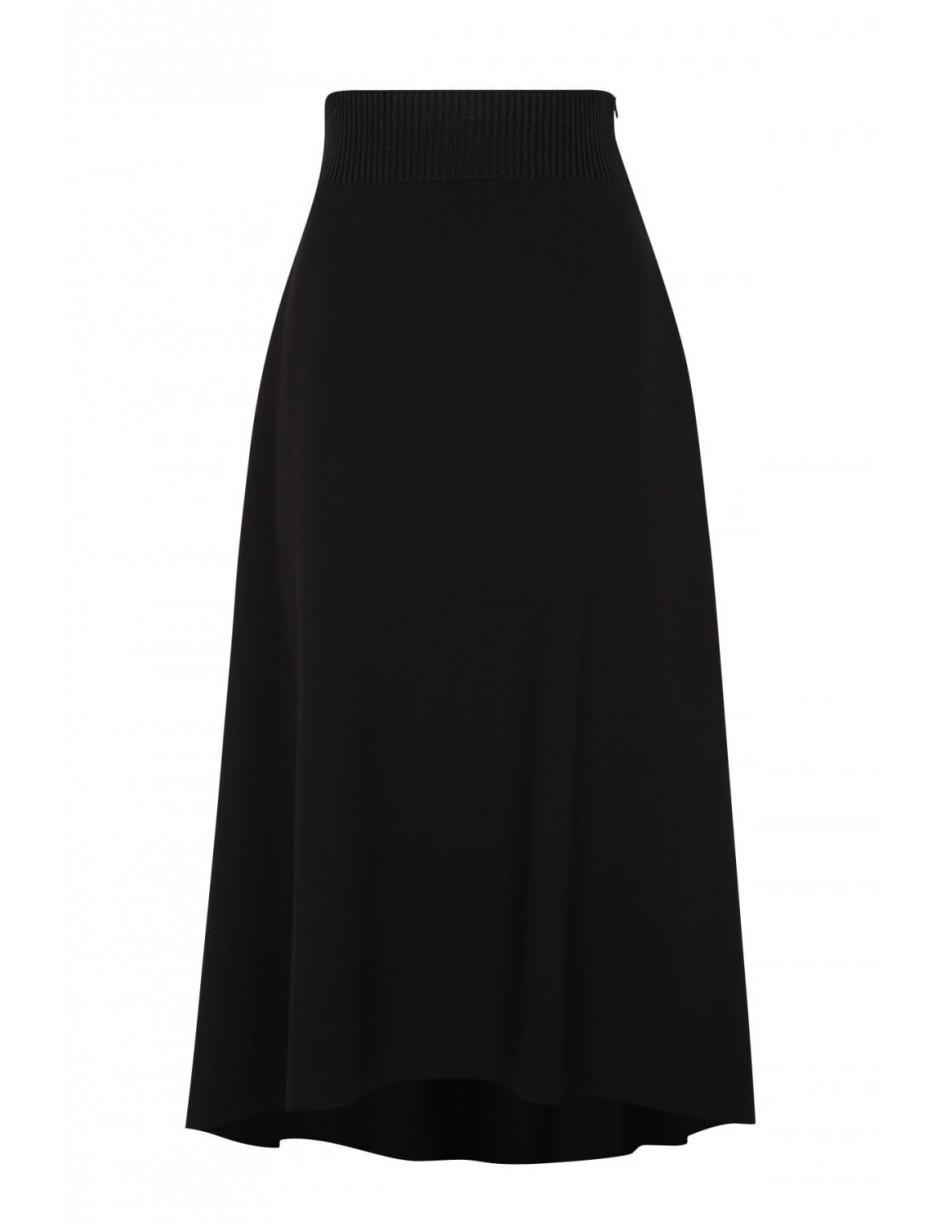 dorothee schumacher emotional essence black midi skirt 648007 in black lyst. Black Bedroom Furniture Sets. Home Design Ideas