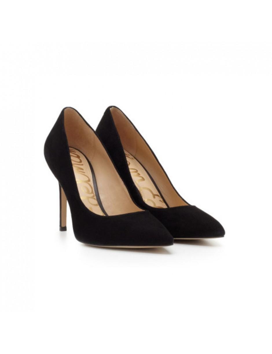 a533c63f55327 Lyst - Sam Edelman Hazel Suede Heel in Black