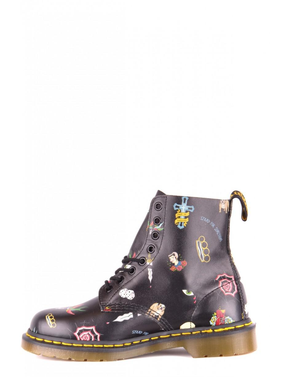 21cfc89b9ee Dr. Martens Boots In Black in Purple - Lyst