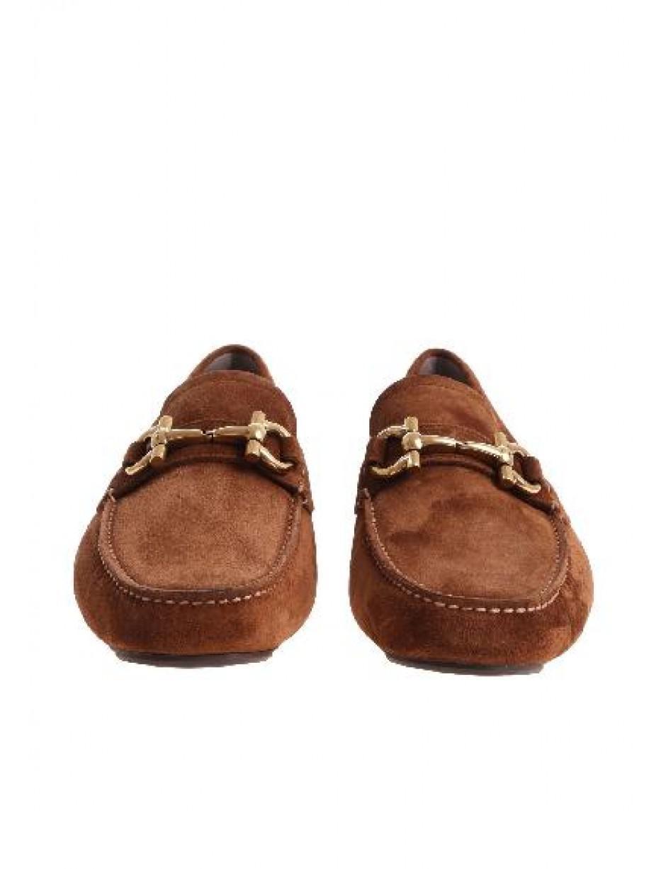 06d3ad1fa86 Ferragamo Gancini Bit Driver Loafers in Brown for Men - Save  13.436123348017617% - Lyst