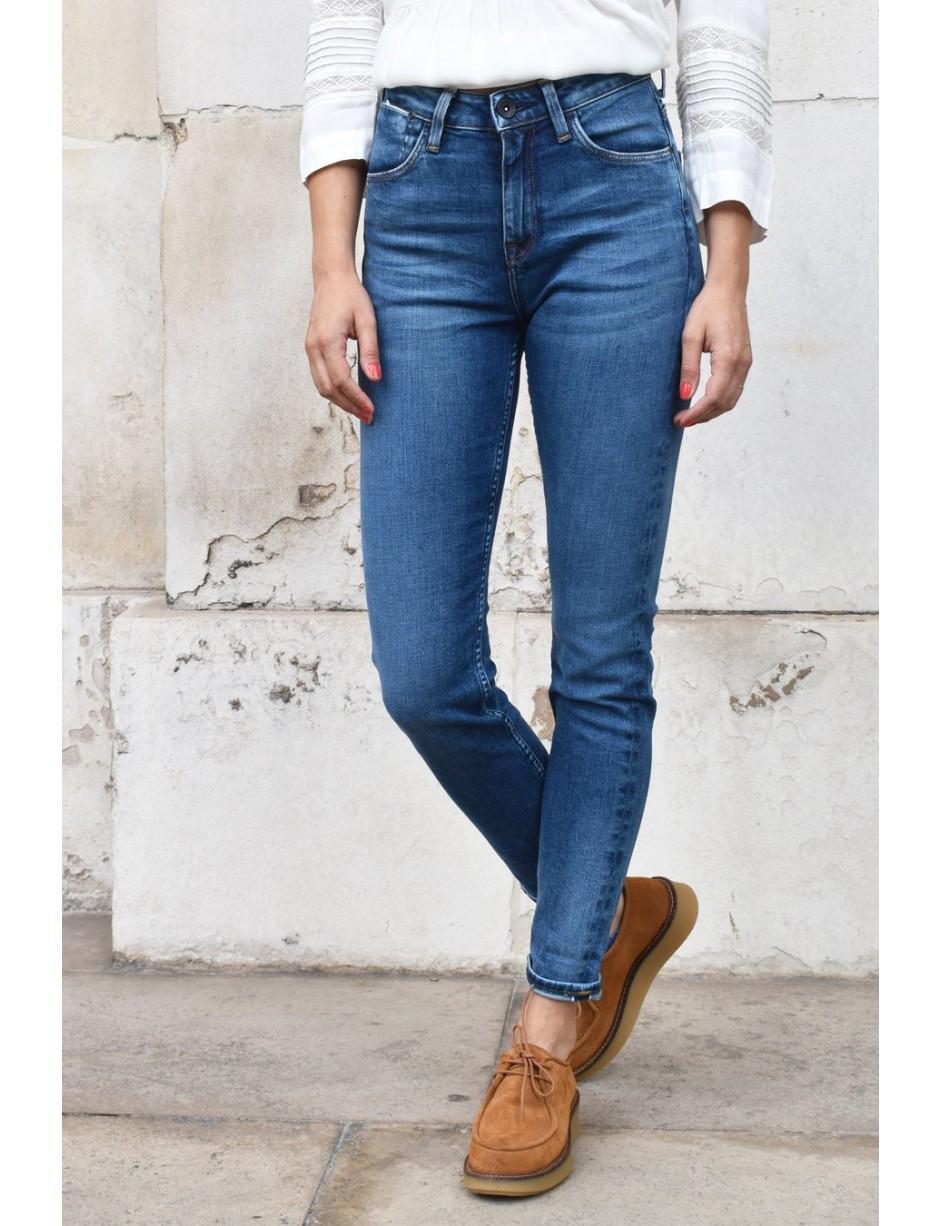 1a45a99b6aa Lee Jeans Scarlett High Street Indigo Jeans in Blue - Lyst