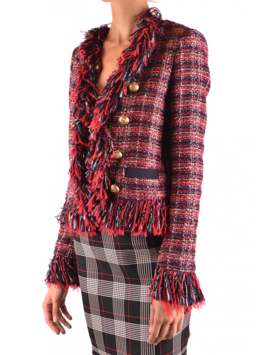 ab3889dd39 Pinko Frayed Boucle Jacket in Red - Lyst